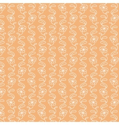 White flower pattern on warm background vector