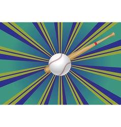 Baseball bat and ball3 vector