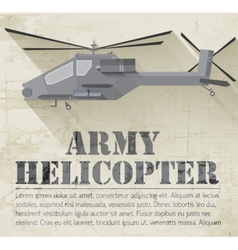 Grunge military helicopter icon background concept vector