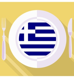 Kitchen of greece vector
