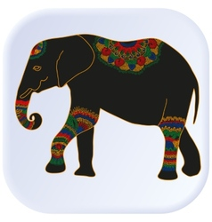 Multicolored elephant vector