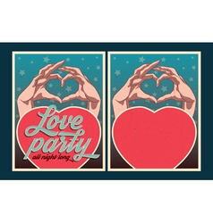Love party poster set vector