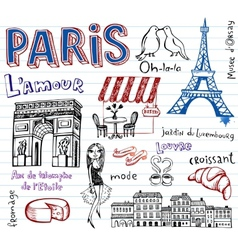 France symbols as funky doodles vector