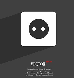 Electric plug power energy icon symbol flat modern vector