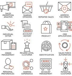 Set of icons related to business management - 14 vector