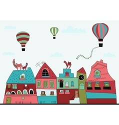 Little town street vector image
