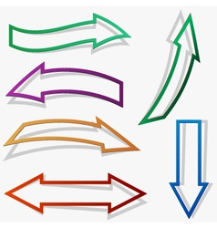 paper style arrows set vector image