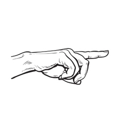 Painted hand pointing at something vector