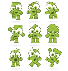 Funny green cartoons vector