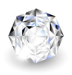 Diamond with light on white background vector