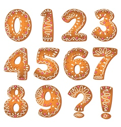 Cake numbers and symbols vector