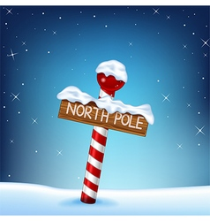 A christmas of a north pole wooden si vector