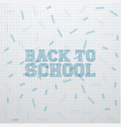 Back to school greeting card template vector