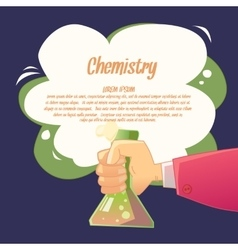 Background for chemistry in a fun cartoon style vector