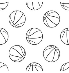 basketball ball seamless pattern sport symbol vector image vector image