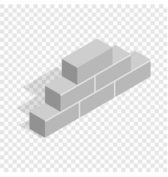 brickwork isometric icon vector image