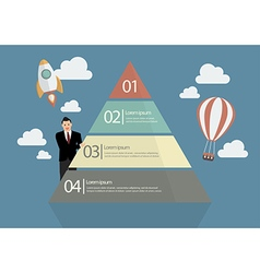 Businessman presenting the pyramid chart vector