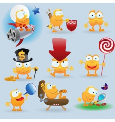 cartoon emotions set vector image vector image