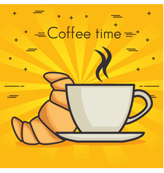 Coffet time design vector