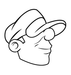 Cool cartoon graffiti guy with cap image vector