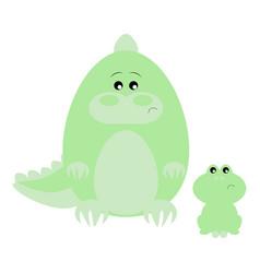 crocodile and frog sad vector image vector image