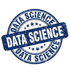 Data science blue grunge stamp vector