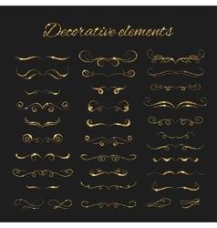 Dividers set gold ornate design Golden vector image vector image