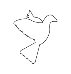 Dove silhouette icon vector