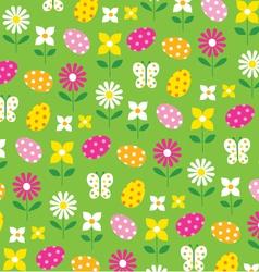 Easter flowers vector