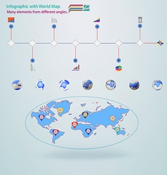 Elements infographic World Map vector image