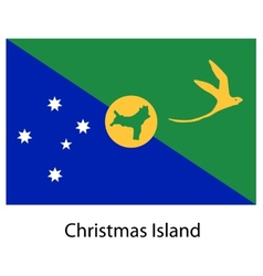 Flag of the country christmas island vector
