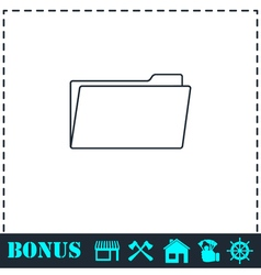 Folder icon flat vector image vector image