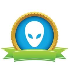 Gold extraterrestrial logo vector image