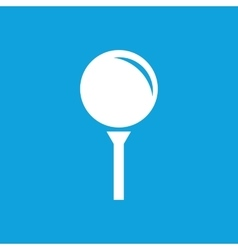 Golf ball icon simple vector image