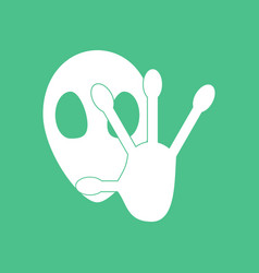 Icon alien and hand vector