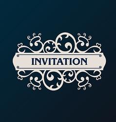 Label frame Vintage banner background vector image vector image