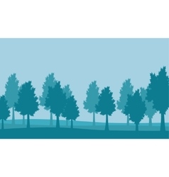 Lined tree landscape vector