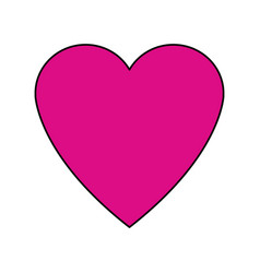 Love heart passion romantic cute icon vector
