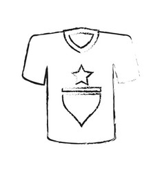 Monochrome blurred silhouette of t-shirt sport vector