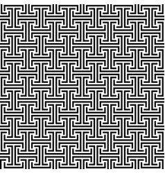 monochrome geometric seamless pattern vector image vector image