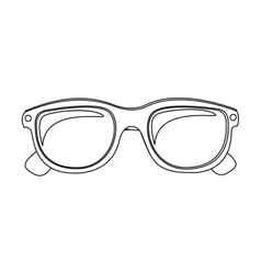 monochrome silhouette oval glasses lens vector image