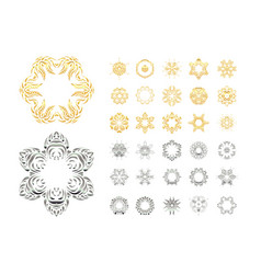 Ornamental lace pattern vector