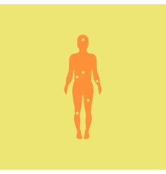Patients point on the human body various symptoms vector