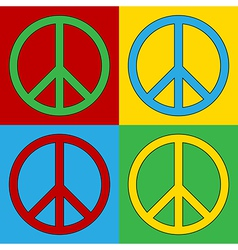 Peace symbol icons vector