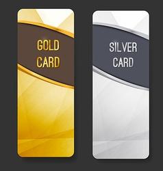 Premium membership club card collection vector image