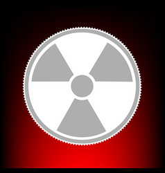 Radiation round sign postage stamp or old photo vector