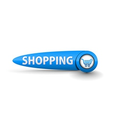 shopping button vector image vector image