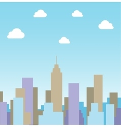 Silhouette cityscape background vector