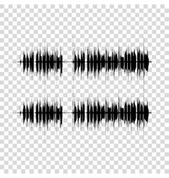 sound waves set on transparent Audio vector image vector image