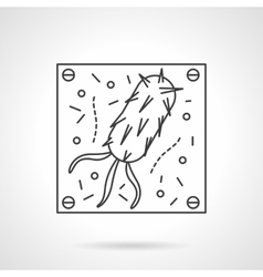 Virus icon flat line design icon vector image vector image
